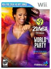 Zumba Fitness World Party game only, no belt +DVD (Wii, 2013)    Factory Seal