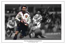 RYAN GIGGS 1999 SEMI FINAL ARSENAL GOAL MANCHESTER UNITED SIGNED PHOTO PRINT