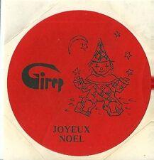 Autocollant sticker girep JOYEUX NOËL GIREP 1980