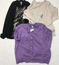 womens winter clothes NWT lot long sleeve plus size white stag croft barrow XXL