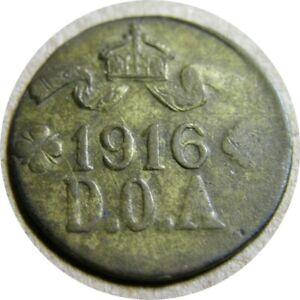 elf German East Africa 5 Heller 1916 T Tabora Emergency WWI