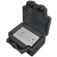 Heavy Duty Outdoor Double Socket 2 Gang Twin IP66 Waterproof Outside Switched