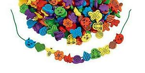 """50 Fun Foam Beads about 1"""" - Butterfly - Snail - Flower - Cat - Leaf - Much more"""