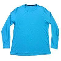 Lululemon Men's Current Turquoise Blue Long Sleeve Shirt • Size XXL