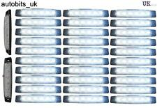 30 pcs 24V LED FRONT WHITE CLEAR SIDE MARKER LIGHTS LAMP TRUCK TRAILER LORRY BUS