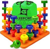 Stacking Peg Board Set Toy Montessori Occupational Therapy For Fine Motor Skills