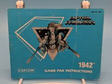 1942 Instruction Manual Booklet Nintendo Nes Authentic with protective sleeve