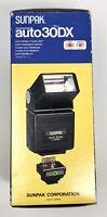 New NIB Sunpak Auto 30 DX Thyristor Camera Flash Vintage