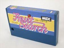 MSX FRUIT SEARCH Cartridge Import Japan Video Game msx cart