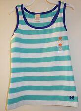 NWT Gymboree Bright and Beachy Green/White Stripe Top Size 7