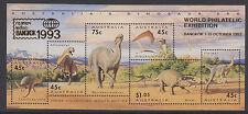 AUSTRALIA :1993 Prehistoric Animal M/Sheet 'BANGKOK 93' overprint SG MS 1429 MNH