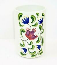 """Welsh Dresser by Portmeirion Utensil Jar 6 3/4"""" H Floral Painted Made in Britain"""