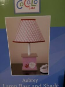 NEW COCALO AUBREY PINK FLORAL LAMP BASE & SHADE