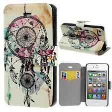 Protección bolsa funda flip cover case carcasa para iphone 4 4s multicolor atrapa sueños 13c2