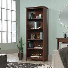 Tall Library Shelving Bookcase Display Decor Storage Organizer Bookshelf Wooden