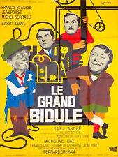 Affiche 120x160cm LE GRAND BIDULE (1967) Michel Serrault, Jean Poiret, Blanche