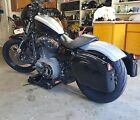 Black Hard Saddle Bags Trunk Luggage w/ Lights Mount Bracket Motorcycle Cruiser