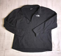 North Face Pullover Sweater XL Men's Jacket Gray 1/4 Zip Polyester Long Sleeve