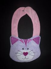 NEW Carter's Purple Kitty Cat Baby Girl Terry Cloth Teething Bib