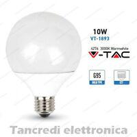 Lampadina led V-TAC 10W = 60W E27 bianco caldo 3000K VT-1893 globo G95 lampada