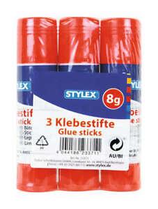 Klebestift Paste 3 x 8 g Kleber Bastelkleber für Schule und Büro