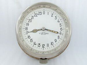 2-MСhZ 24-hours Vintage Ship Cabin Maritime Clock USSR BOAT Submarine Navy Clock