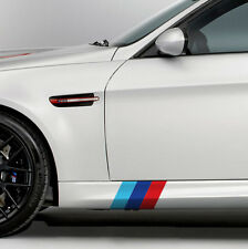 "9"" BMW M Series Motorsport Side Skirt Front Lip Emblem Color Flag Decal M3 M5"