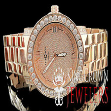 Joe Rodeo Khronos Genuine Real Diamond Rose Gold Tone Full Stainless Steel Watch