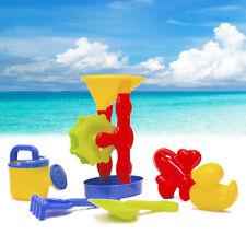 6Pcs Kids Beach Sand Toy Set Outdoor Backyard Water Wheel Shovel Molds Tool Box