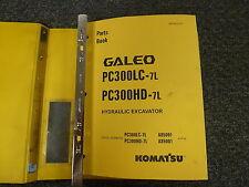 Komatsu Galeo PC300LD-7L PC300HD-7L Excavator Parts Catalog Manual S/N A85001-Up