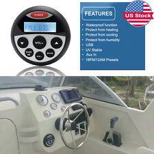 Waterproof Marine Radio MP3 Audio Stereo FM/AM Bluetooth Music for BOAT ATV UTVm