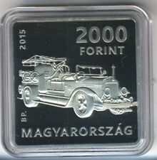 Square coin! Hungary 2000 Ft 2015 Proof Dry Fire Extinguisher - Kornél Szilvay