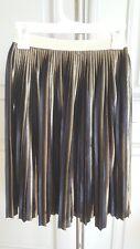 Xhilaration Girls Pleated Black Gold Skirt Sz 4/5