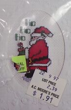 Santa Claus Stitch A Card Counted Cross Stitch Kit NeedleMagic New Old Stock
