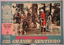 Fotobusta STERMINIO SUL GRANDE SENTIERO 1952 RARA! MONTGOMERY MARSHALL LANGAN