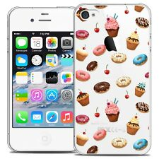 Coque Crystal Pour iPhone 4/4s Extra Fine Rigide Foodie Donuts
