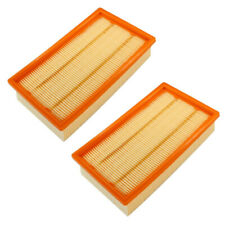 2x Flachfilter für KÄRCHER NT 35/1 45/1 55/1 TACT + Te M + Ap + BS 6.904-367.0