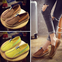 Womens Girls Driving Moccasins Lazy Peas Loafers Casual Shoes Ballet Flats Shoes