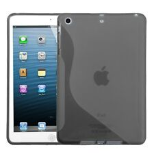 For APPLE iPad Mini TPU Case Gel Skin Cover Transparent Smoke Candy S Shape Case