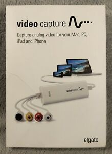 Elgato Video Capture USB Analog Video Digitise Capture Device VCR Mac PC iPad
