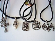 Of 5 Necklaces # 1 5 Darkside Necklaces Genuine Leather Lot