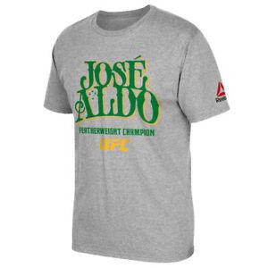 Men's Reebok Jose Aldo Jr UFC 194 Featherweight Champion Aldo Shirt Large NWT