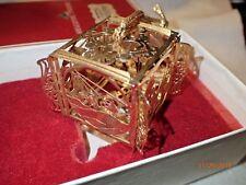 Reed & Barton Argo & Lehne Jewelers Gold Tone Christmas Ornament, Original Box