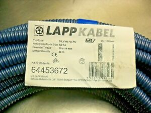 QTY 55' LAPP KABEL SILVYN-PU Conduit, Sleeving & Cable Carrier Systems 10 x 14mm