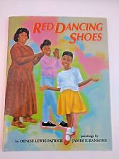 Red Dancing Shoes Book 1993 HC Dust Jacket Signed James Ransome Illustrator