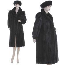 ON SALE! Mint! Rare Petite! Dark Mahogany Female Mink Fur Coat w/Free Mink Hat