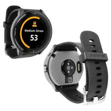 Skinomi Silver Carbon Fiber Skin+Screen Protector for Garmin Vivoactive 3 Music