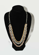 STATEMENT THREE TONE CHAIN LAYERED NECKLACE