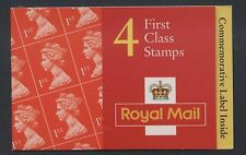 GREAT BRITAIN - 1998 MACHIN 4 x 1st 70th BIRTHDAY CYL.W56W59W69 BOOKLET SG.HB16
