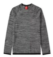 Nike Sportswear Tech Knit Crew Men's Sweatshirt Top Grey Size XS 832182-091